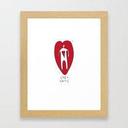 love twice Framed Art Print