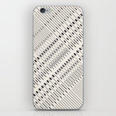 Pattern lines mosaic black and white iPhone & iPod Skin