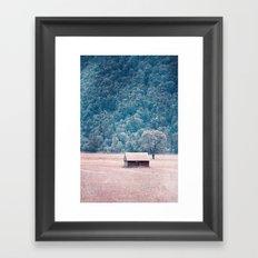 the red house Framed Art Print