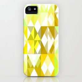 Pale Yellow Poinsettia 1 Abstract Triangles 1 iPhone Case