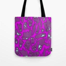 Purple Ghosties Tote Bag