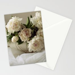 Garden peonies for Justine - wedding bouquet photography Stationery Cards