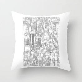 Dublin, city of chimneys Throw Pillow