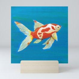 Comet tail goldfish Mini Art Print