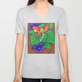 Fairy and Bee Unisex V-Neck