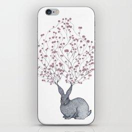 Blossom Heart Bunny iPhone Skin