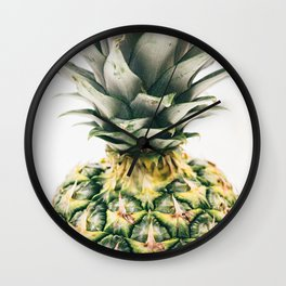 Tropical Pineapple Fruit Wall Clock