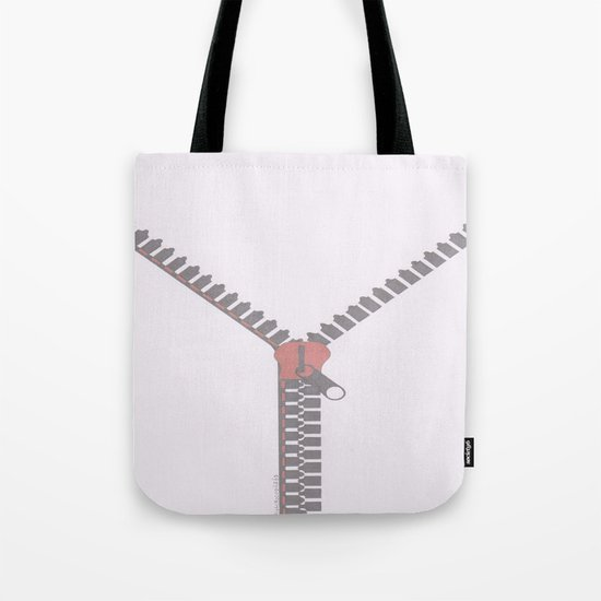 Unzipping or pass Tote Bag