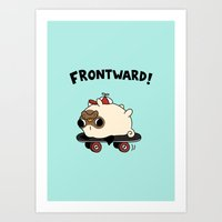 pug Art Prints featuring PUG. by Jarvis Glasses