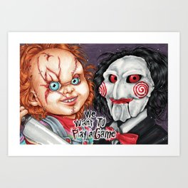 We want to play a game Art Print