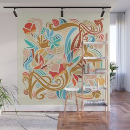 Abstract Florals Wall Mural