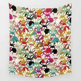Colored  Easter bunny seamless pattern Wall Tapestry