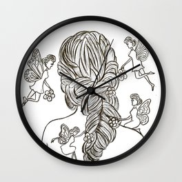Bride with fairies Wall Clock