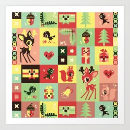 Christmas Geometric Pattern No. 2. Art Print