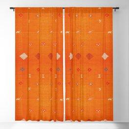 Boho Oriental Orange Traditional Desert Moroccan Style  Blackout Curtain