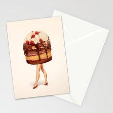 Cake Girl - Chocolate Raspberry Stationery Cards