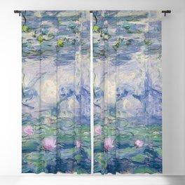 Water Lilies Claude Monet Fine Art Blackout Curtain