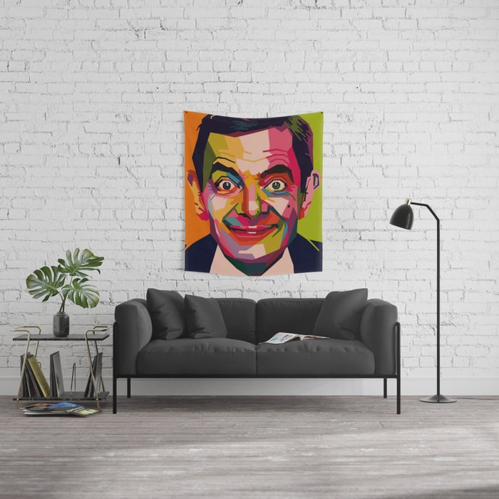 WPAP - Mr. Bean Wall Tapestry