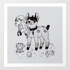 Beelzebub's Best Friends Art Print
