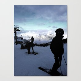 Up here with wonderful views Canvas Print