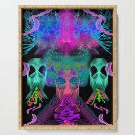 Ghostly Exhalations (ultraviolet) Serving Tray