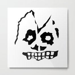 Zombie Head Metal Print