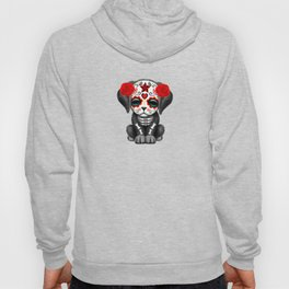 Cute Red Day of the Dead Puppy Dog Hoody