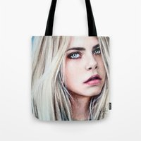 cara Tote Bags featuring CARA by Laura Catrinella