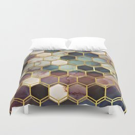RUGGED MARBLE Duvet Cover