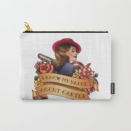 Agent Carter Vintage Tattoo Light Carry-All Pouch