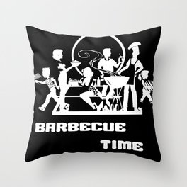 Barbecue Time Throw Pillow
