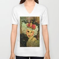 royal V-neck T-shirts featuring Royal by Liz Atmore-Vitols