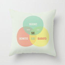 Bueno Bonito Barato Throw Pillow