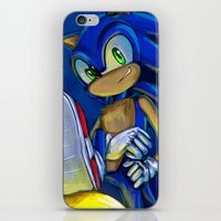 sonic iPhone & iPod Skins featuring Sonic by amanda.scopel