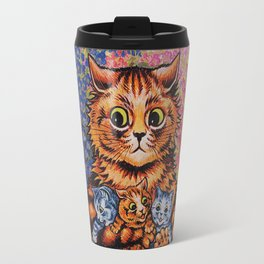 Cat and Her Kittens-Louis Wain Cats Travel Mug