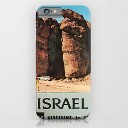 Plakat israel fly bea viscount to tel aviv iPhone Case