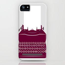 The Lonely Typewriter {dark plum} iPhone Case
