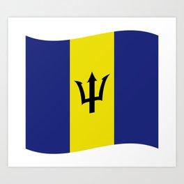 barbados flag Art Print
