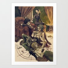 Catladies Art Print