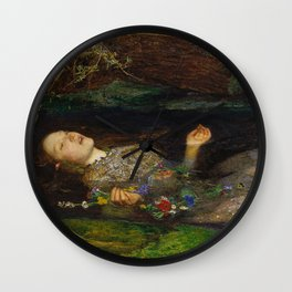 John Everett Millais - Ophelia Wall Clock