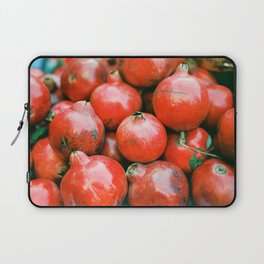 Red pomegranates on a fruit cart in Marrakech Morocco | Colorful travel food photography Laptop Sleeve