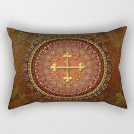 Mandala Armenian Cross Rectangular Pillow