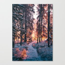 Burning bright winters day Canvas Print