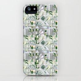 green_pattern iPhone Case