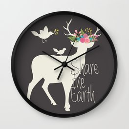 Share the Earth Wall Clock