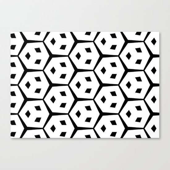 Van Trijp Black & White Pattern Canvas Print