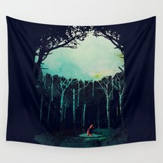 Deep in the forest Wall Tapestry