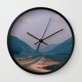 Road to Nowhere in Banff Wall Clock