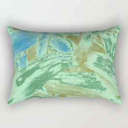 Tropical texture in gradient of green and blue colours ready for many products Rectangular Pillow