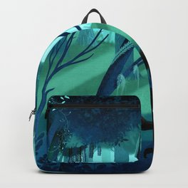 Shadow Wolves Stalk The Silver Wood Backpack